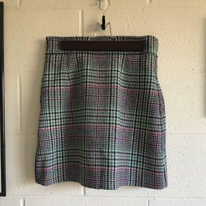 New Sandro short checked skirt 18